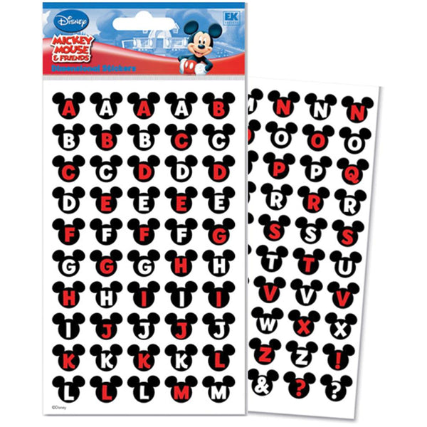 Disney Dimensional Stickers - Mickey Ears Alphabet | Craftastic Cabin Inc
