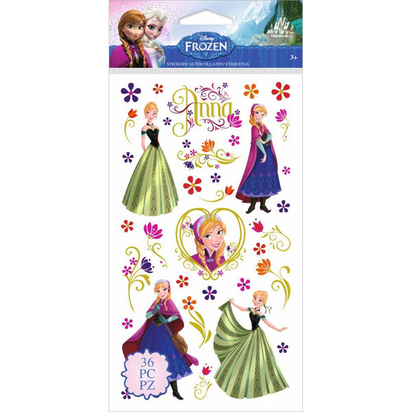 Frozen Anna & Flowers - Jolee's Disney Flat Stickers | Craftastic Cabin Inc