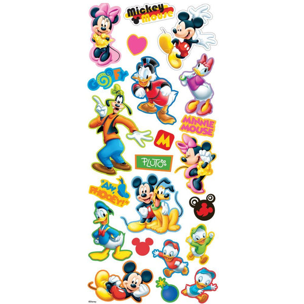 EK Success Sticko Disney Title Dimensional Stickers - Mickey & Friends | Craftastic Cabin Inc