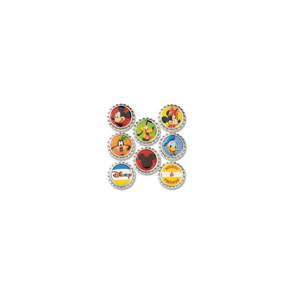 Mickey & Friends - EK Success Disney Bottle Caps 8/pkg | Craftastic Cabin Inc