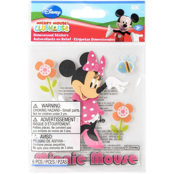Jolee's EK Success Disney Dimensional Stickers Mickey Mouse Clubhouse Minnie Mouse | Craftastic Cabin Inc