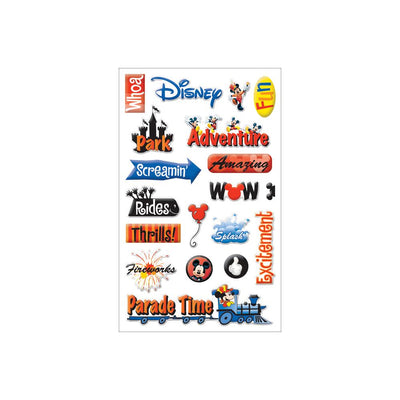 Mickey Gem Stickers - Disney Adventure