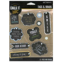 K&Company Chalk It Now Tags and Brads