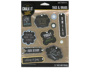 K&Company Chalk It Now Tags and Brads | Craftastic Cabin Inc