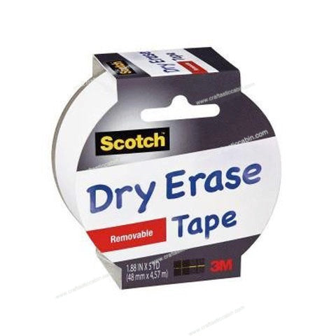 Scotch™™ Dry Erase Tape White 1.88 in x 5 yds | Craftastic Cabin Inc