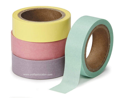 Darice Washi PASTEL Tape 4 pack