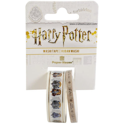 Paper House Washi Tape 2/Pkg Harry Potter House Crests