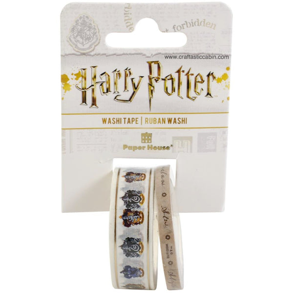 Paper House Washi Tape 2/Pkg Harry Potter House Crests | Craftastic Cabin Inc