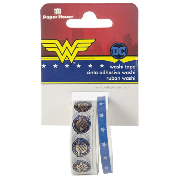 Paper House Washi Tape 2/Pkg Wonder Woman | Craftastic Cabin Inc