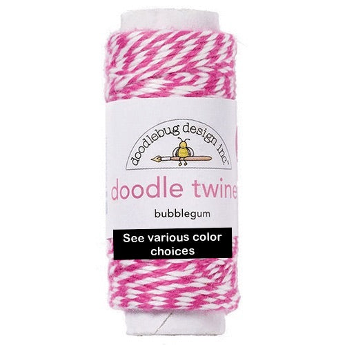 Doodlebug Doodle Twine Spool - Various Colors | Craftastic Cabin Inc
