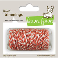 Lawn Fawn Trimmings Cord Coral Twine - various colors