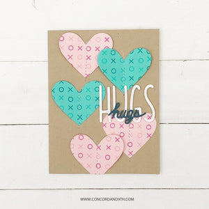 "Concord & 9th Clear Stamps 5""X6"" - XOXO TURNABOUT™ STAMP"