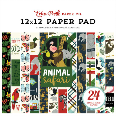 Echo Park Animal Safari 12x12 Paper Pad