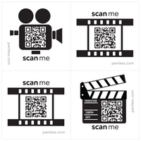 Penless QR Code Sticker 4 Pack - Film Reel