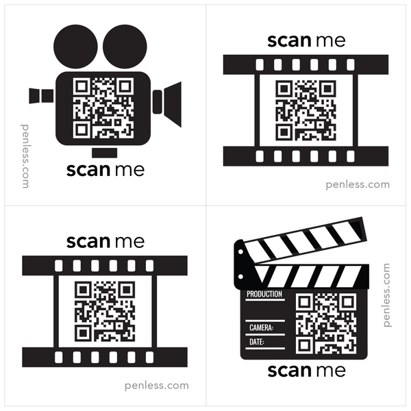 Penless QR Code Sticker 4 Pack - Film Reel | Craftastic Cabin Inc