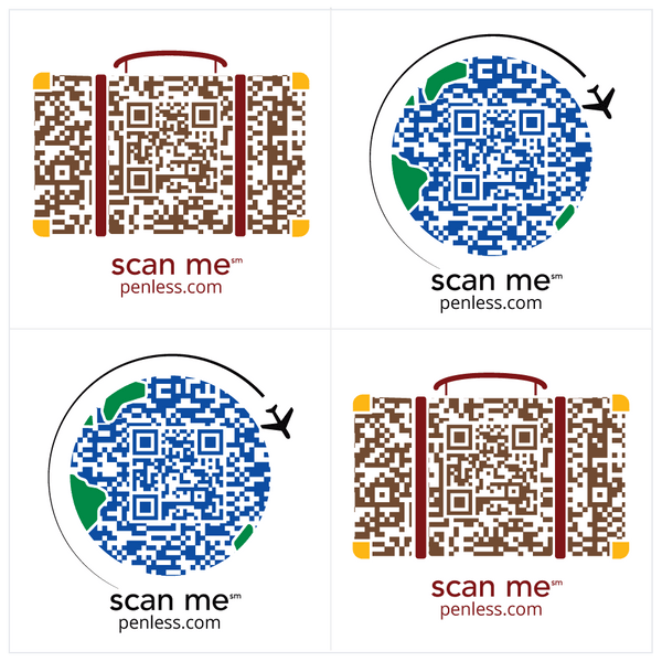 Penless QR Code Sticker 4 Pack - Travel | Craftastic Cabin Inc