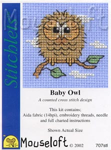 Mouseloft - Counted Cross Stitch Kit - Stitchlets Collection - Baby Owl