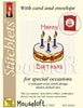 Mouseloft - Card Occasions Stitchlets Collection - Birthday Cake