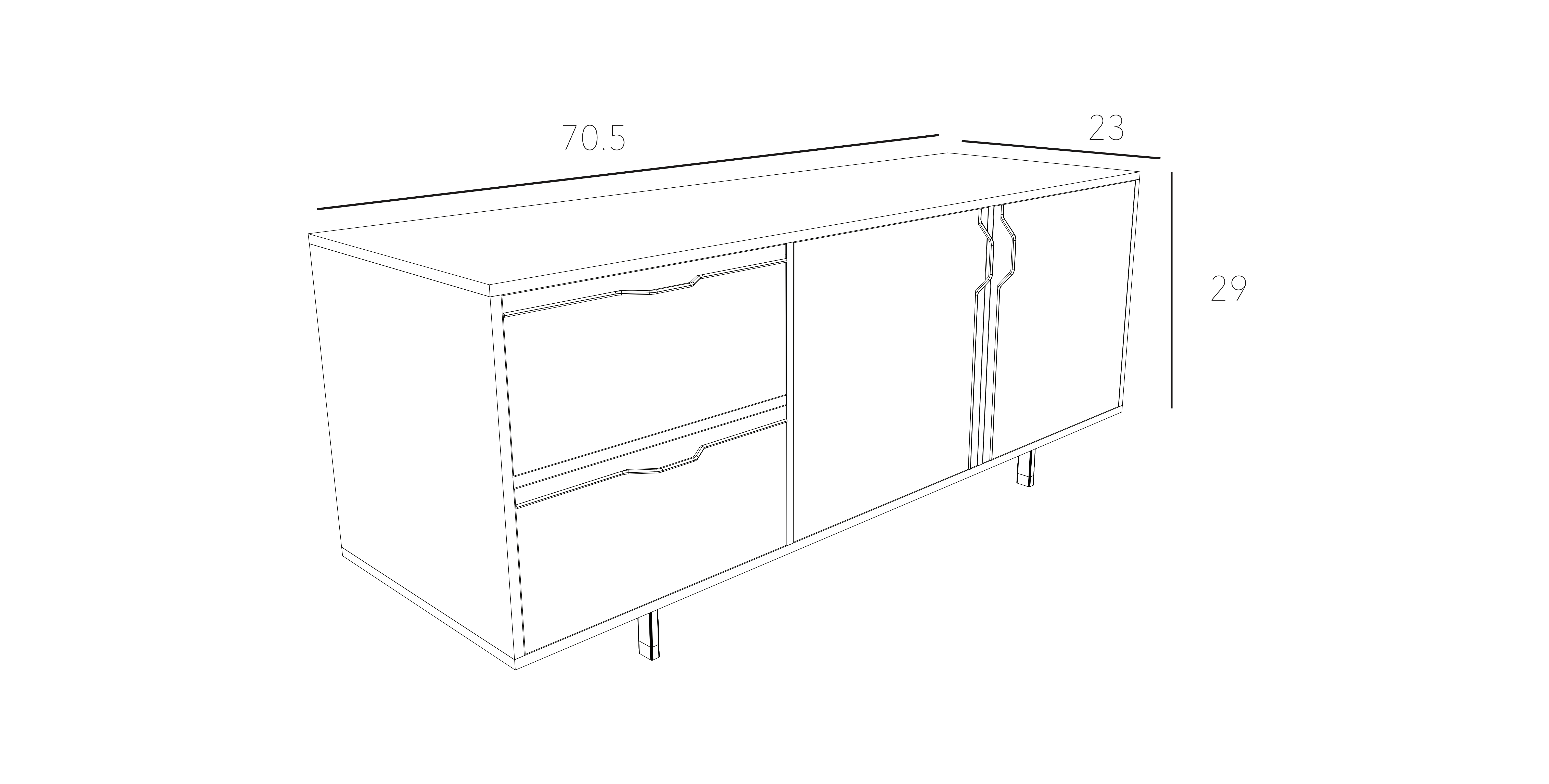 Chapman Small Credenza Storage Unit