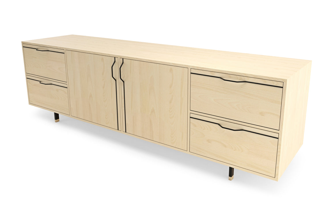 Walnut Chapman Large Credenza Storage Unit Sideboard