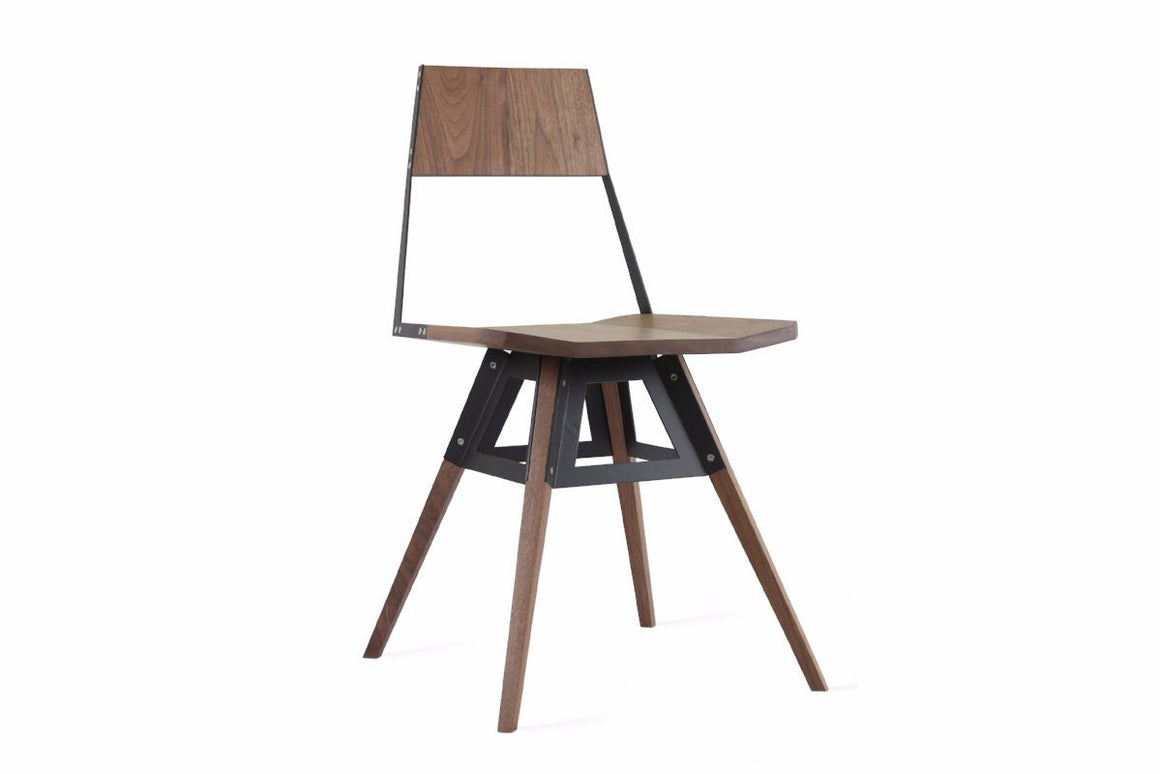Walnut Clarke Chair Black