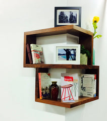 Franklin Shelf - Solid Wood Corner Shelf