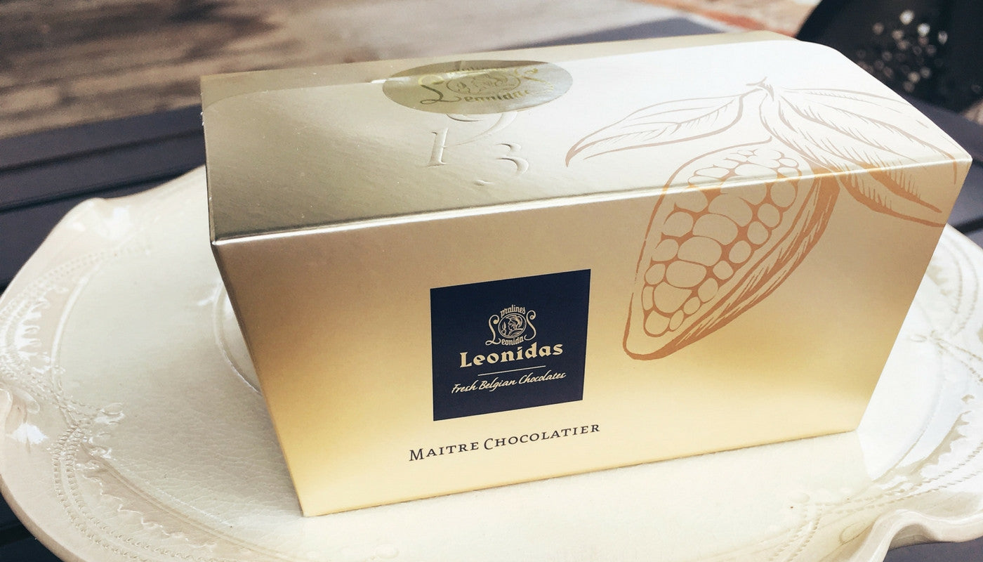gold leonidas chocolate gift box