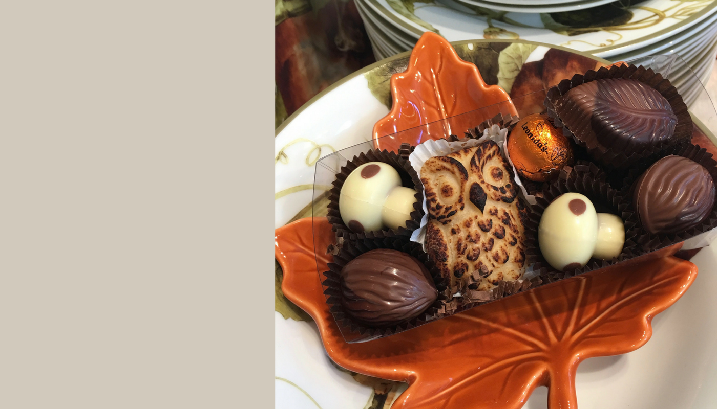 autumn fall chocolate box