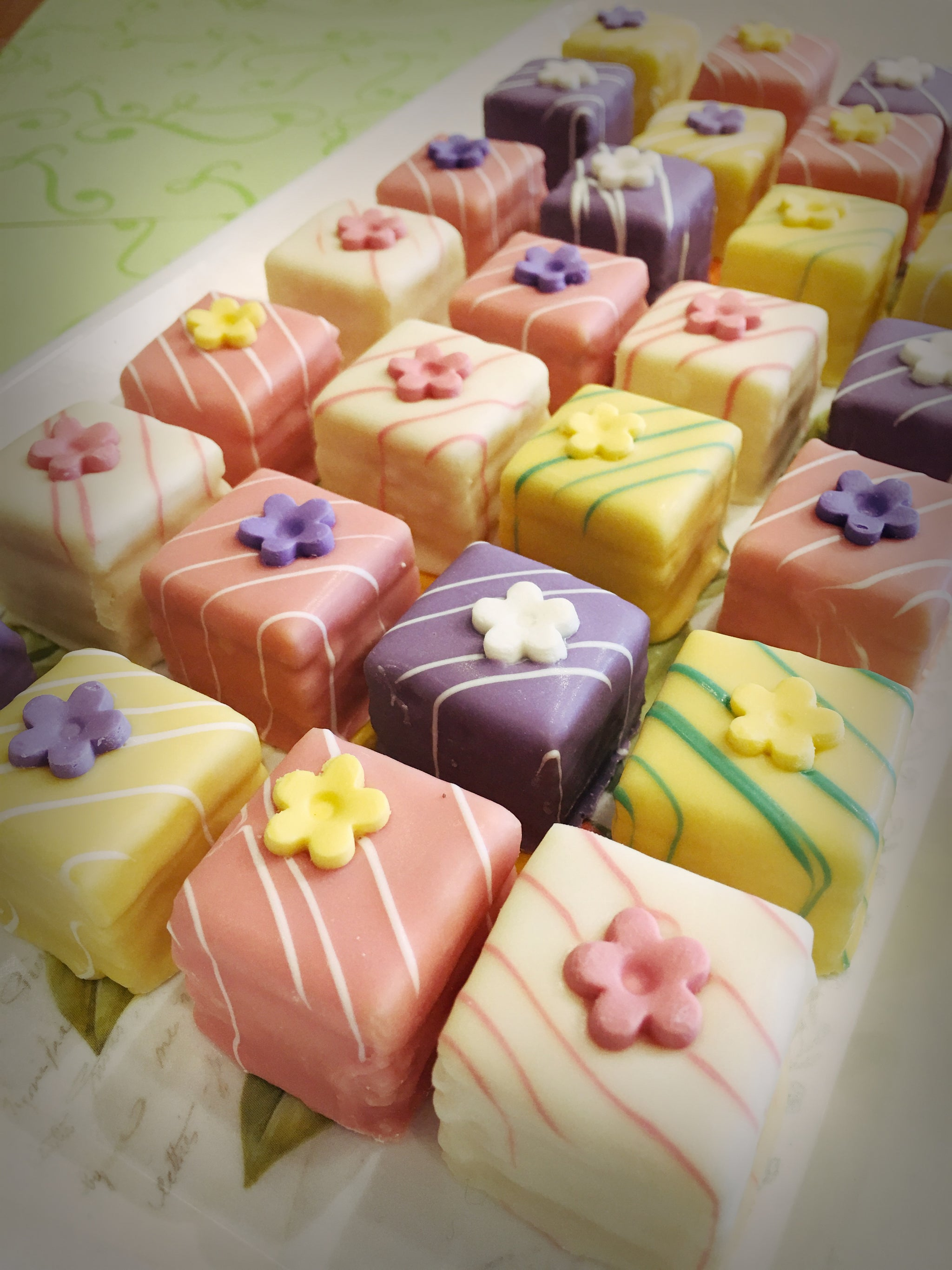 assorted petit fours ready for gifting