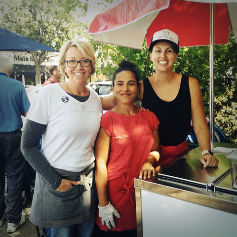 Kristy from Love&Chocolate with Sabrina and Erin from Ginger's Gelato
