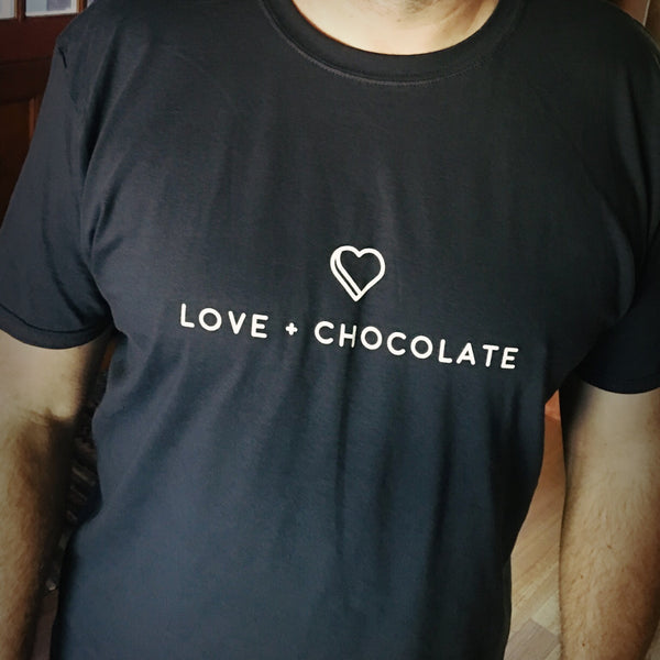 Men's Cut Love + Chocolate T-Shirt - Love Chocolate