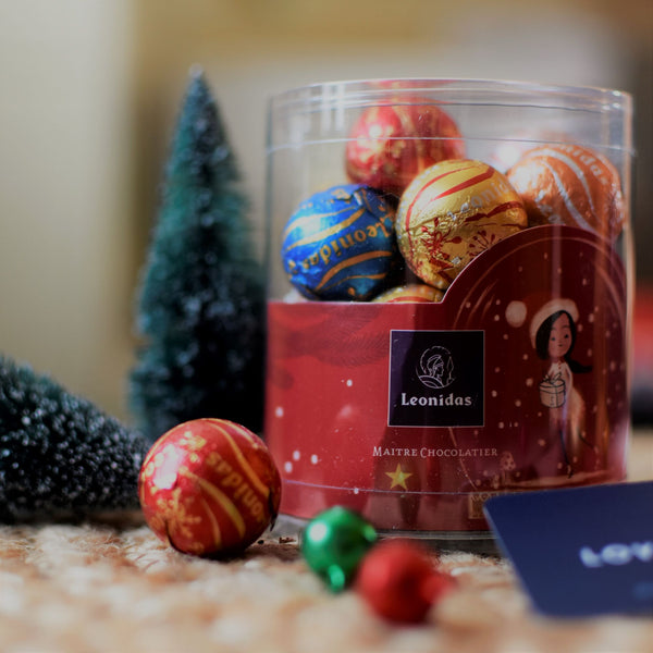 Holiday Chocolate Ball Canister - Love Chocolate