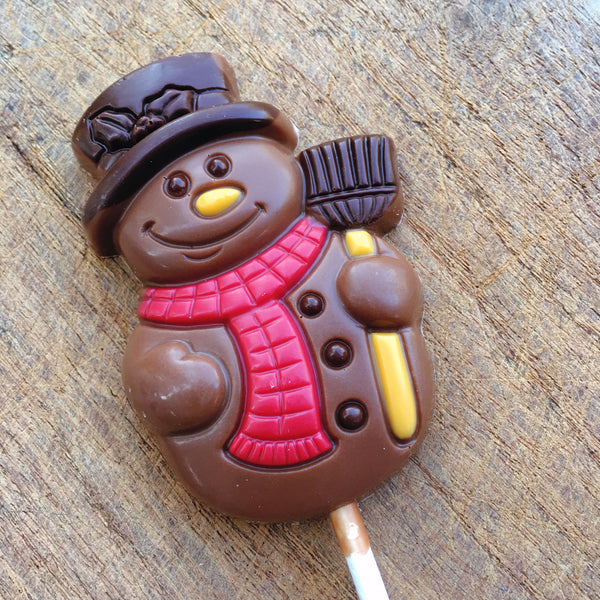 Chocolate Snowman Lollipop