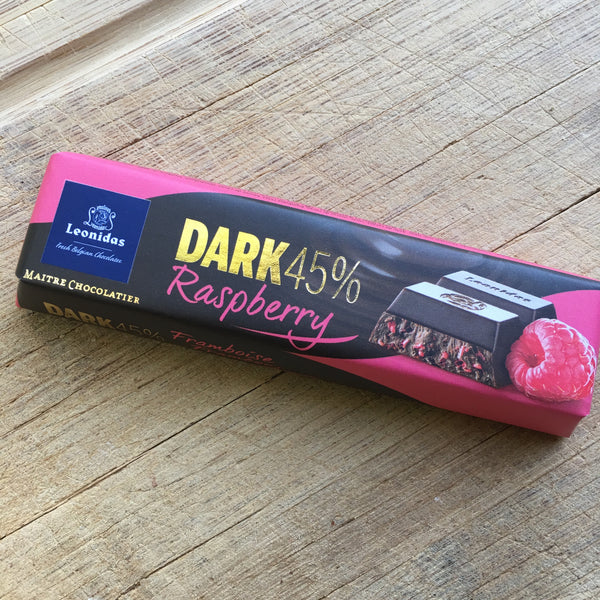 Leonidas Dark Chocolate Raspberry Baton Bar - Love Chocolate