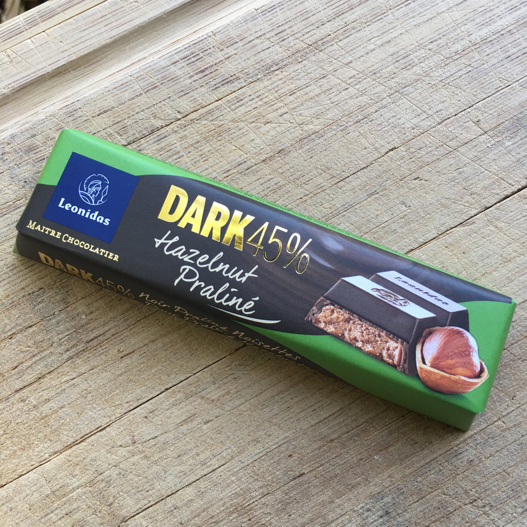 Leonidas Dark Chocolate Praline Hazelnut Baton Bar - Love Chocolate