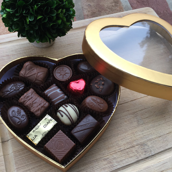 Leonidas Gold Heart Box - Love Chocolate
