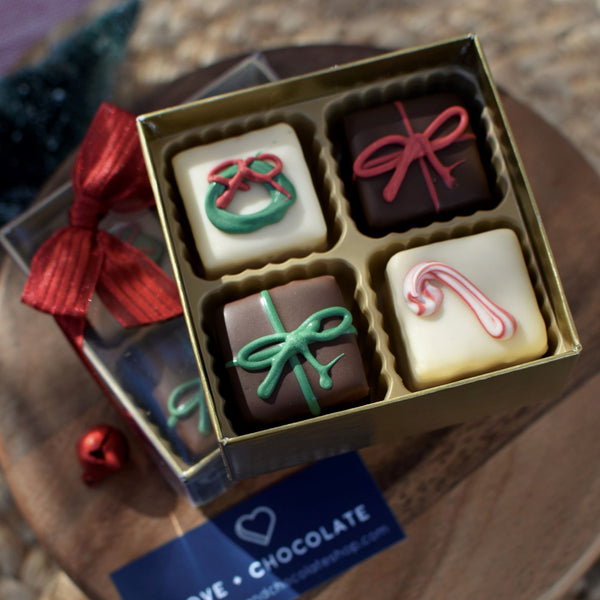Christmas Petit Fours - Love Chocolate
