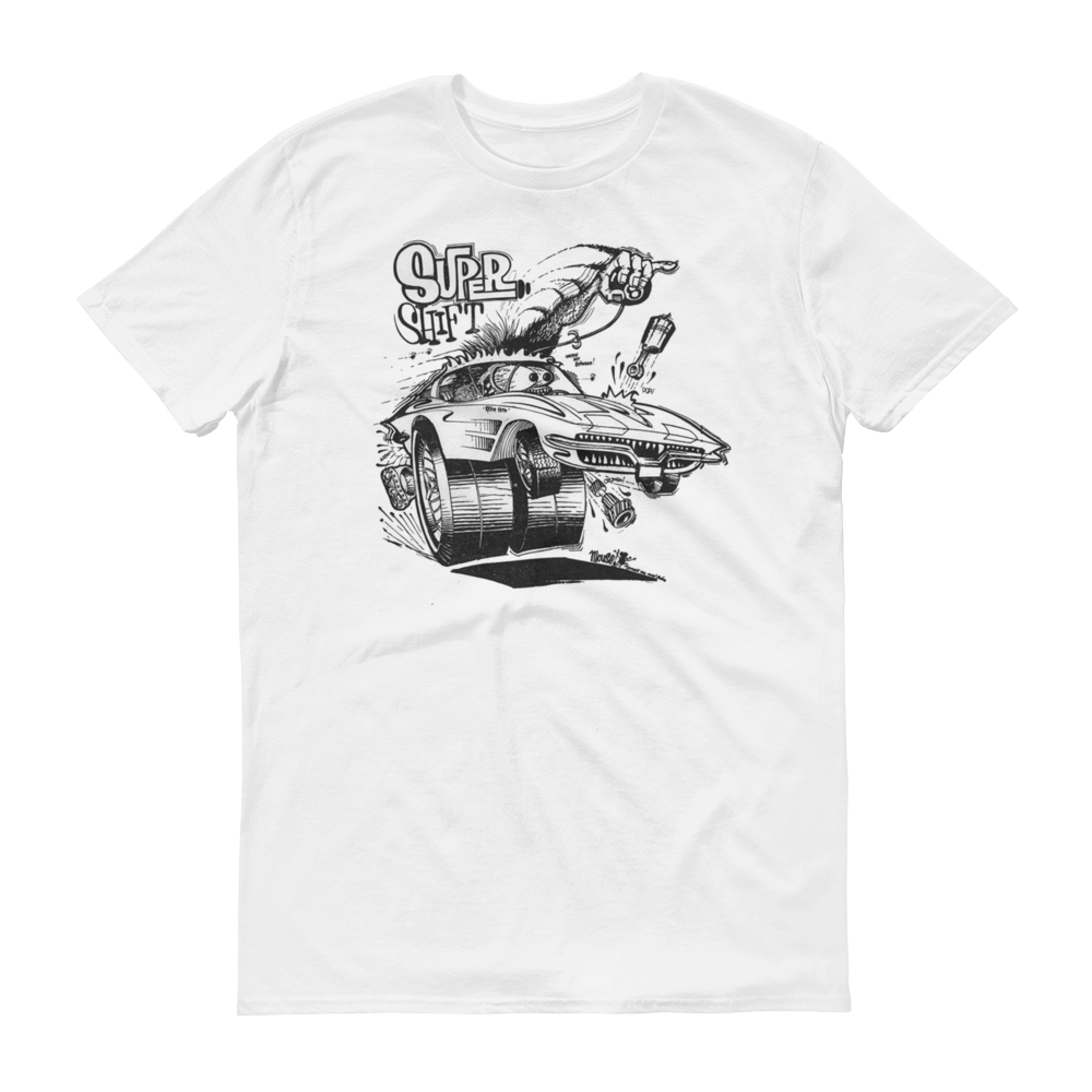 Super Shift in White Short sleeve t-shirt