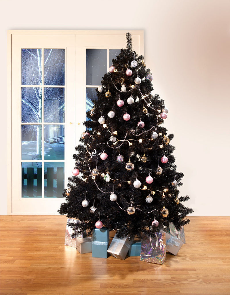 black colorado traditional artificial christmas tree 65ft tall 4ft wide - Black Artificial Christmas Tree