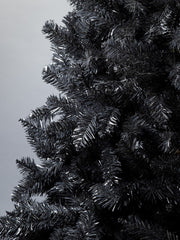 Black Colorado Traditional Artificial Christmas tree. 6.5ft tall, 4ft wide