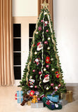 Green Bergen Spruce Artificial Christmas tree. 7ft tall, 3ft wide