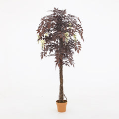 Artificial Handmade Rare Japanese Red Flowering Tree- similar to Red Wisteria