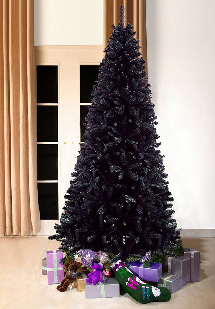 black bergen pine artificial christmas tree 7ft tall 3ft wide - Black Artificial Christmas Tree