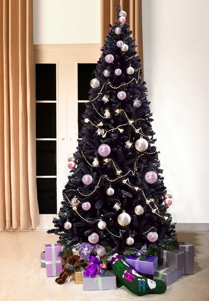 Black Christmas Tree.Black Bergen Spruce Artificial Christmas Tree 7ft Tall 3ft Wide