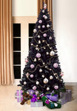 Black Bergen Fir Artificial Christmas tree. 7ft tall, 3ft wide