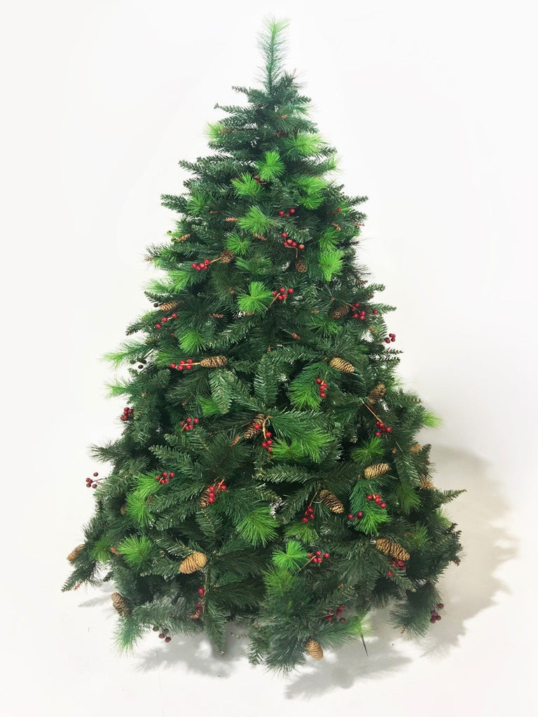 Green Norwegian Fir Artificial Christmas tree. 6.5ft tall – Vogueplants