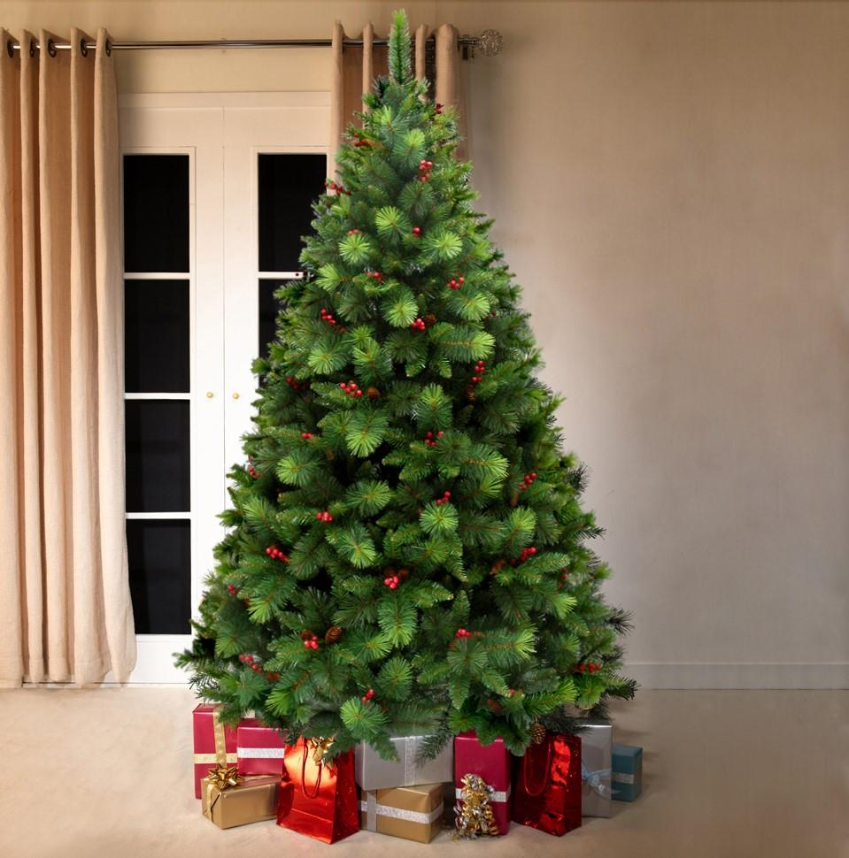 Green Norwegian Pine Artificial Christmas tree. 6.5ft tall ...