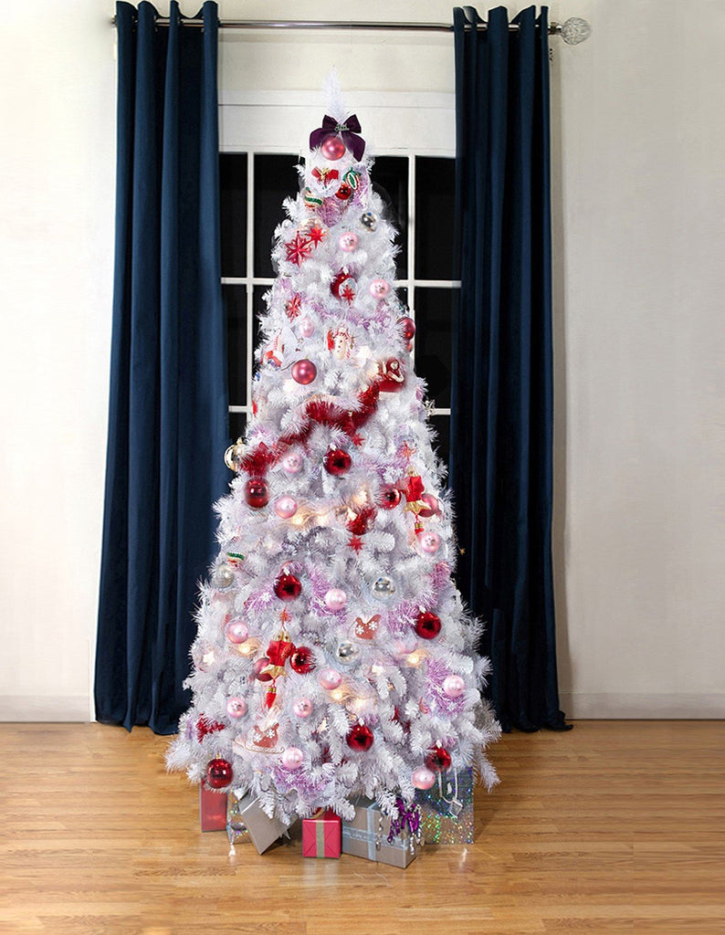 White Bergen Spruce Artificial Christmas tree. 7ft tall, 3ft wide ...