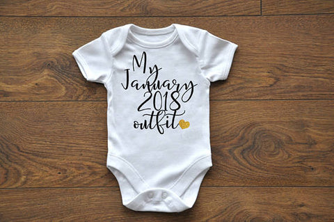 My outfit Pregnancy Announcement Onesie