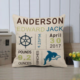 Customized Birth Announcement Pillow